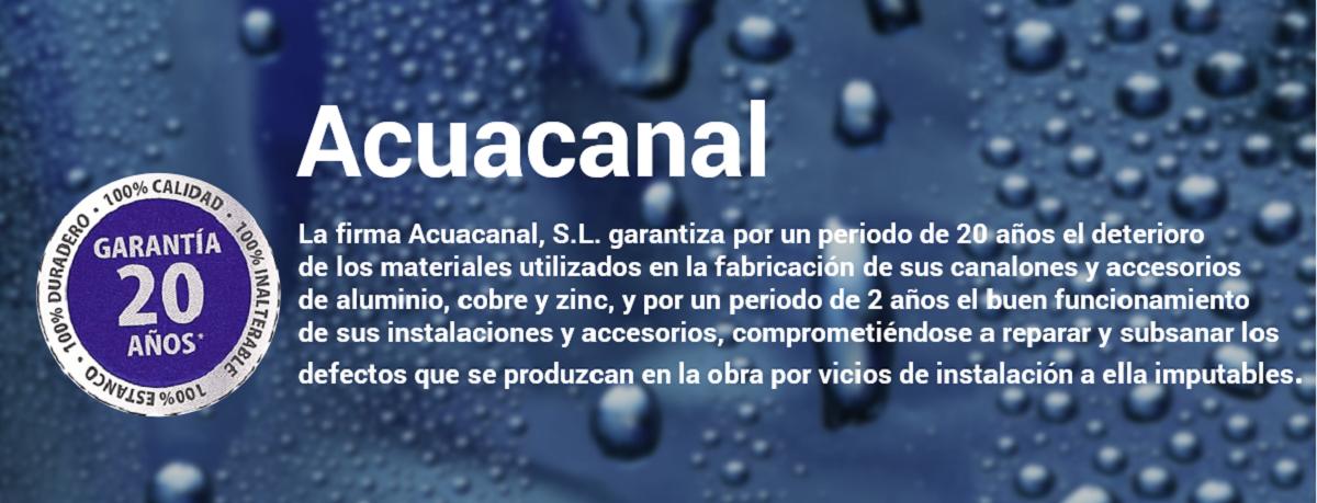 Instalación de canalones, Acuacanal
