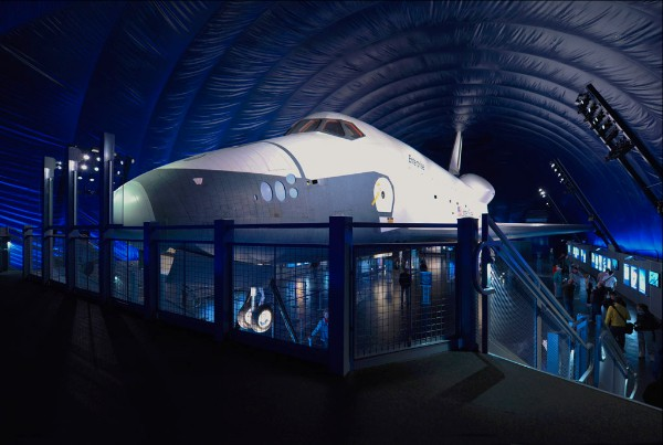 View of Space Shuttle Enterprise from Mezzanine Constructed by Mid-Florida Material Handling