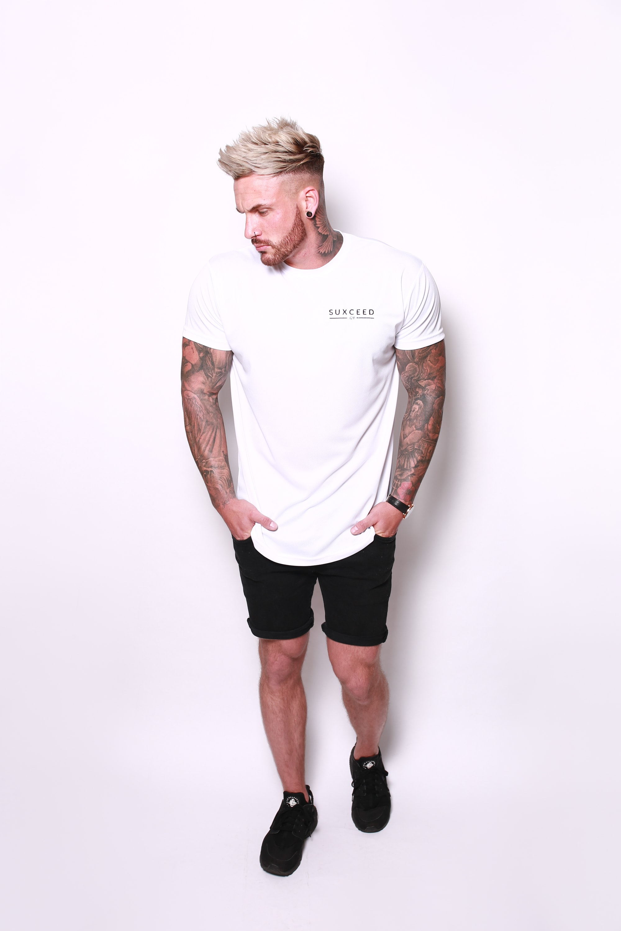 SUXCEED 'TEAM SUXCEED' TSHIRT (WHITE) (WAS £34.99)