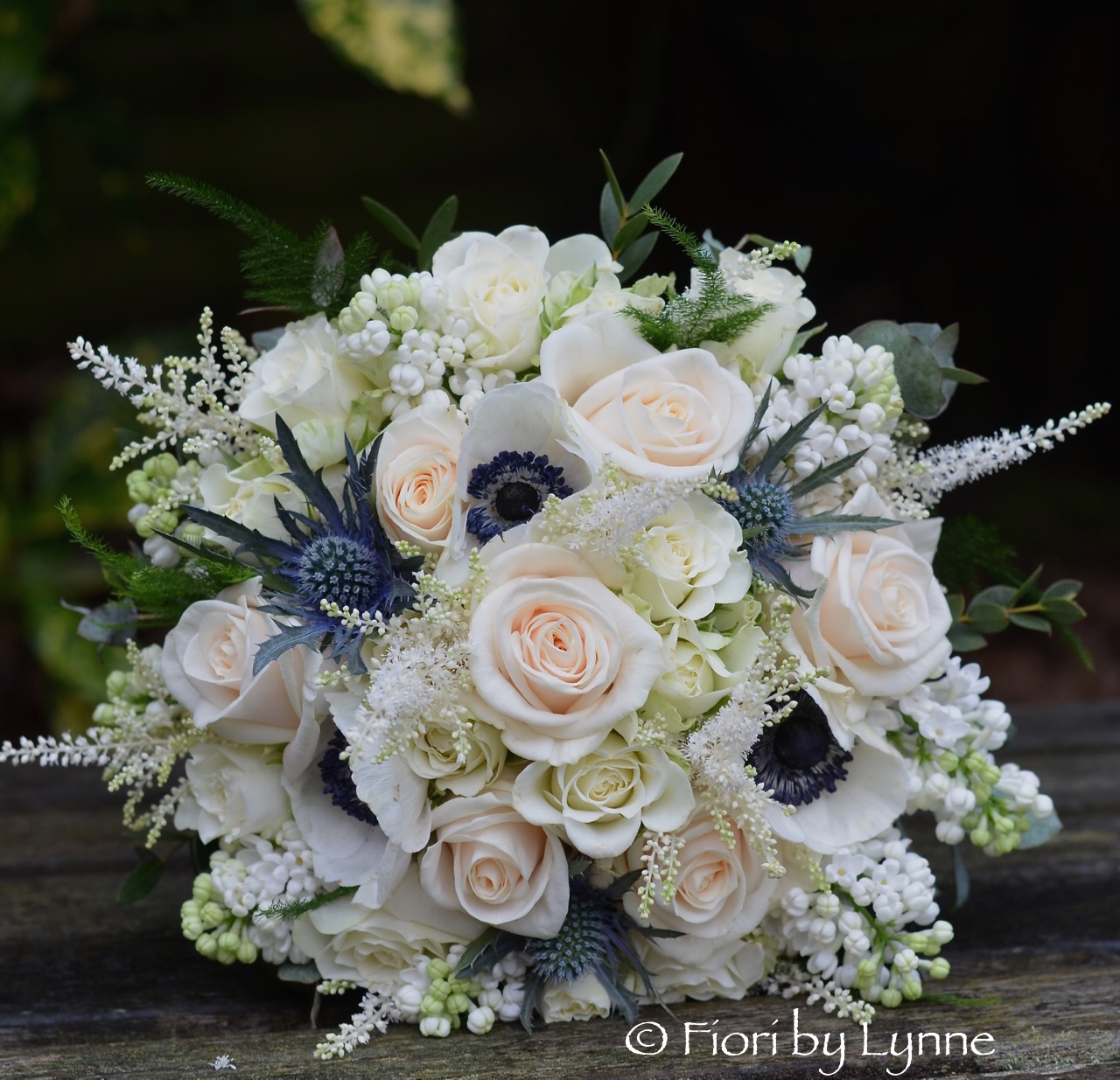 Sheryls Champagne And Blue Wedding Flowers Lainston House
