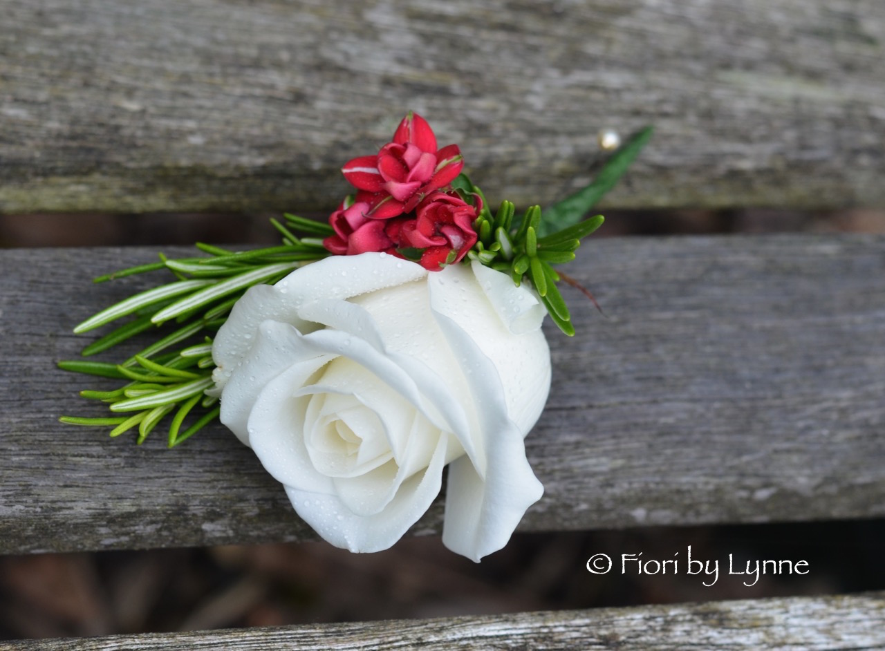 white.rose.red.bouvardia.buttonhole.rosemary.jpg