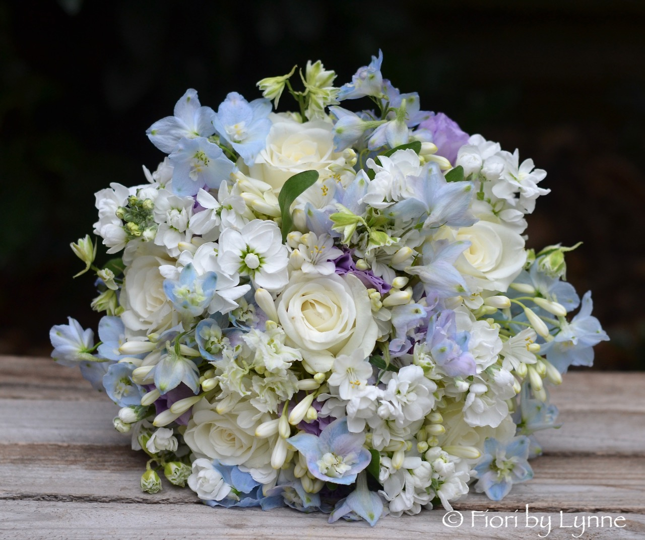 Sues Blue And White Garden Party Style Flowers Marquee Southampton