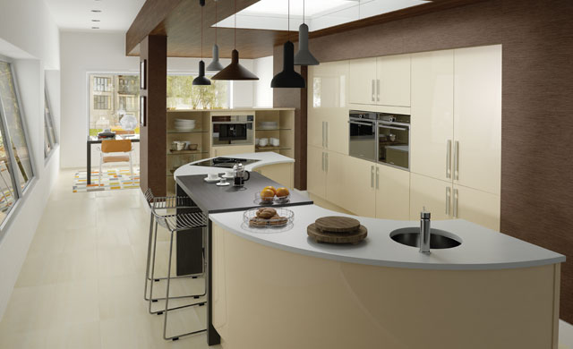 Vanilla Ultra High Gloss Kitchen