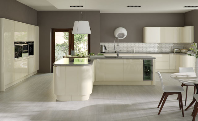 Strada Gloss Ivory Kitchen