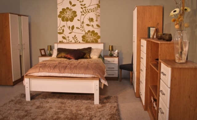 Classic Range, Shannon Oak and Ivory Bedroom Range