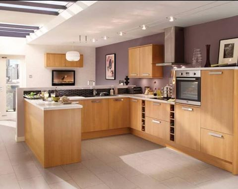 Modern Oak Kitchen, Cedarwood Kitchens, Bedrooms & Home Interiors
