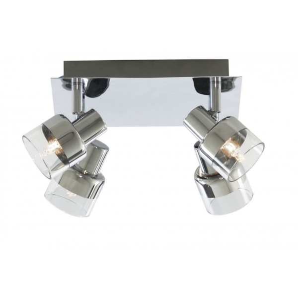 Chrome 4 Light Square Ceiling Light, Cedarwood Kitchens, Bedrooms & Home Interiors