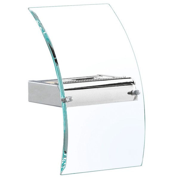 Chrome Glass Curved Wall Light, Cedarwood Kitchens, Bedrooms & Home Interiors