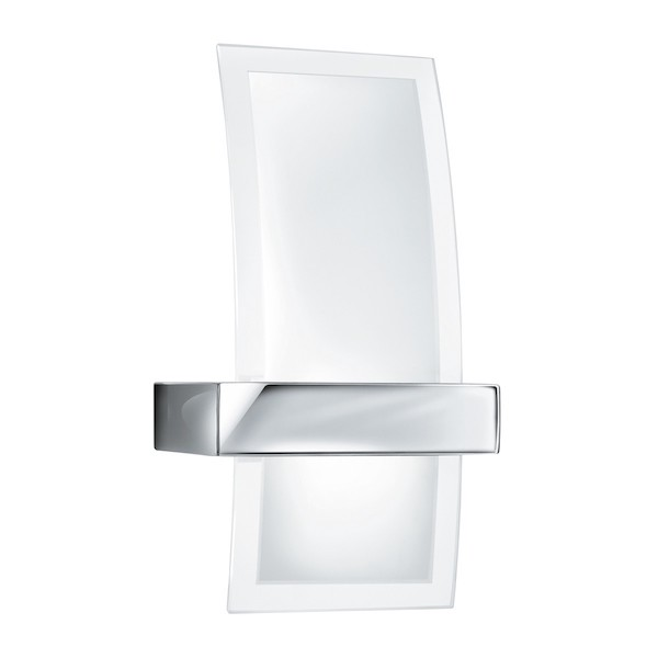 Chrome Frosted Glass Curved Wall Light, Cedarwood Kitchens, Bedrooms & Home Interiors