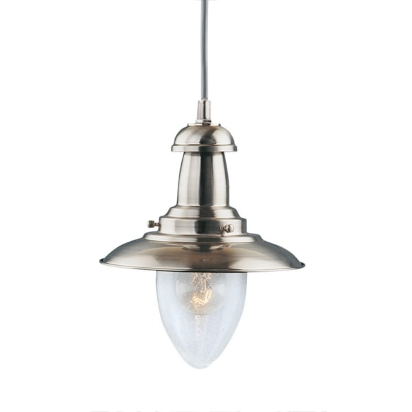 Fisherman Satin Silver Ceiling Light, Cedarwood Kitchens, Bedrooms & Home Interiors