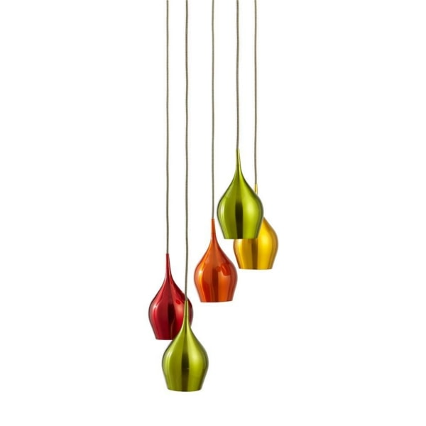Multi-Coloured 5 Light Pendant Light, Cedarwood Kitchens, Bedrooms & Home Interiors