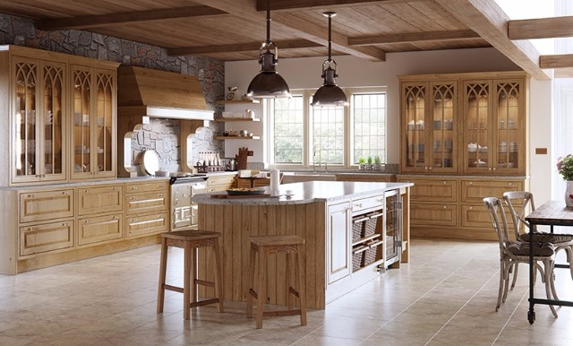 Wooden Fitted Kitchen with granite worktop