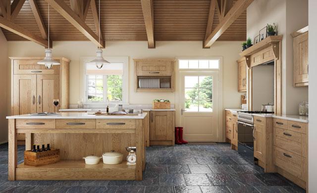 Clonmel Knotty Oak Built In Kitchen