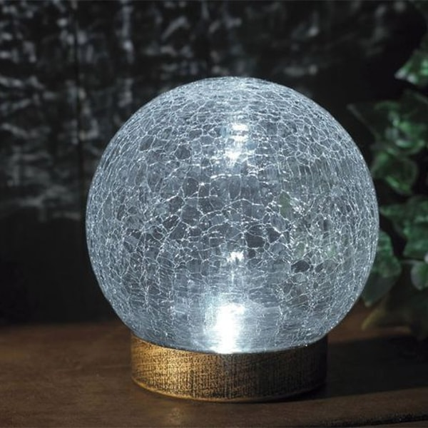 Cracked Ball Garden LightChrome Cylinder Outside Garden Wall Light, Cedarwood Kitchens, Bedrooms & Home Interiors