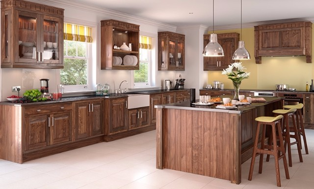 Cedarwood wooden kitchens for Wooden fitted kitchen