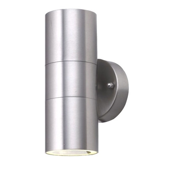 Chrome Cylinder Outside Garden Wall Light, Cedarwood Kitchens, Bedrooms & Home Interiors