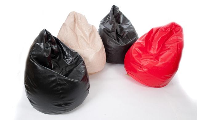 Tear Drop Bean Bag Leather Look Black Brown Cream Red EUR69 Snug Chair