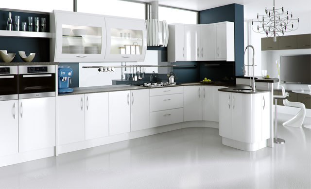 Ultra High Gloss- White Kitchen