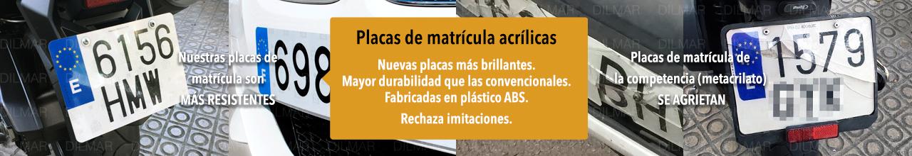Placas de matrícula acrílicas Barcelona