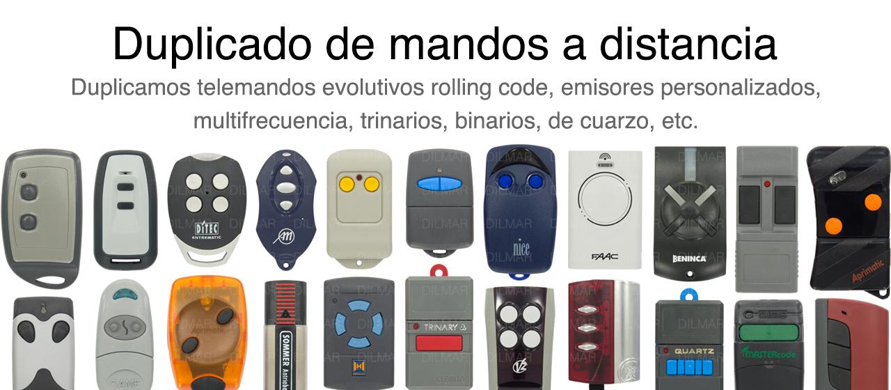 Mandos de garaje en barcelona y alicante dilmar - Mandos puerta garaje ...
