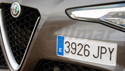Placa de matrícula coche