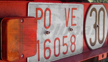 Placa matricula vehiculo especial