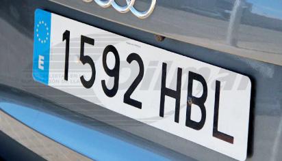 Placa de matrícula acrílica coche