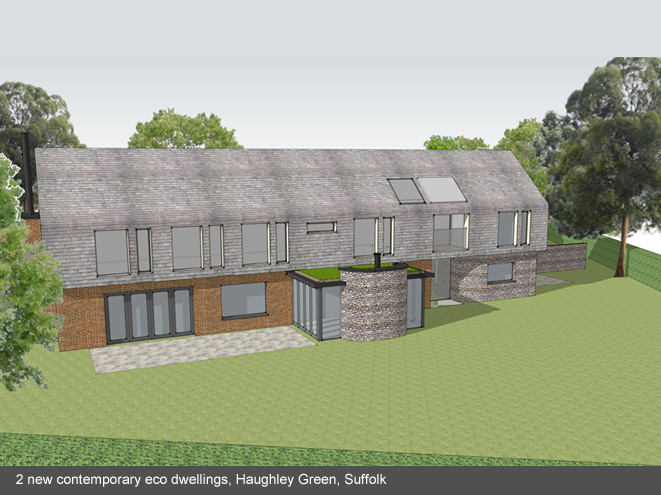 New Eco house Haughley Suffolk