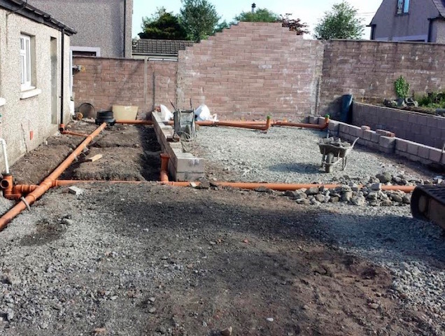 Groundworks contractors Stranraer McHallum Builders offer a full range of groundworks services including drainage, land clearance and foundations for new builds