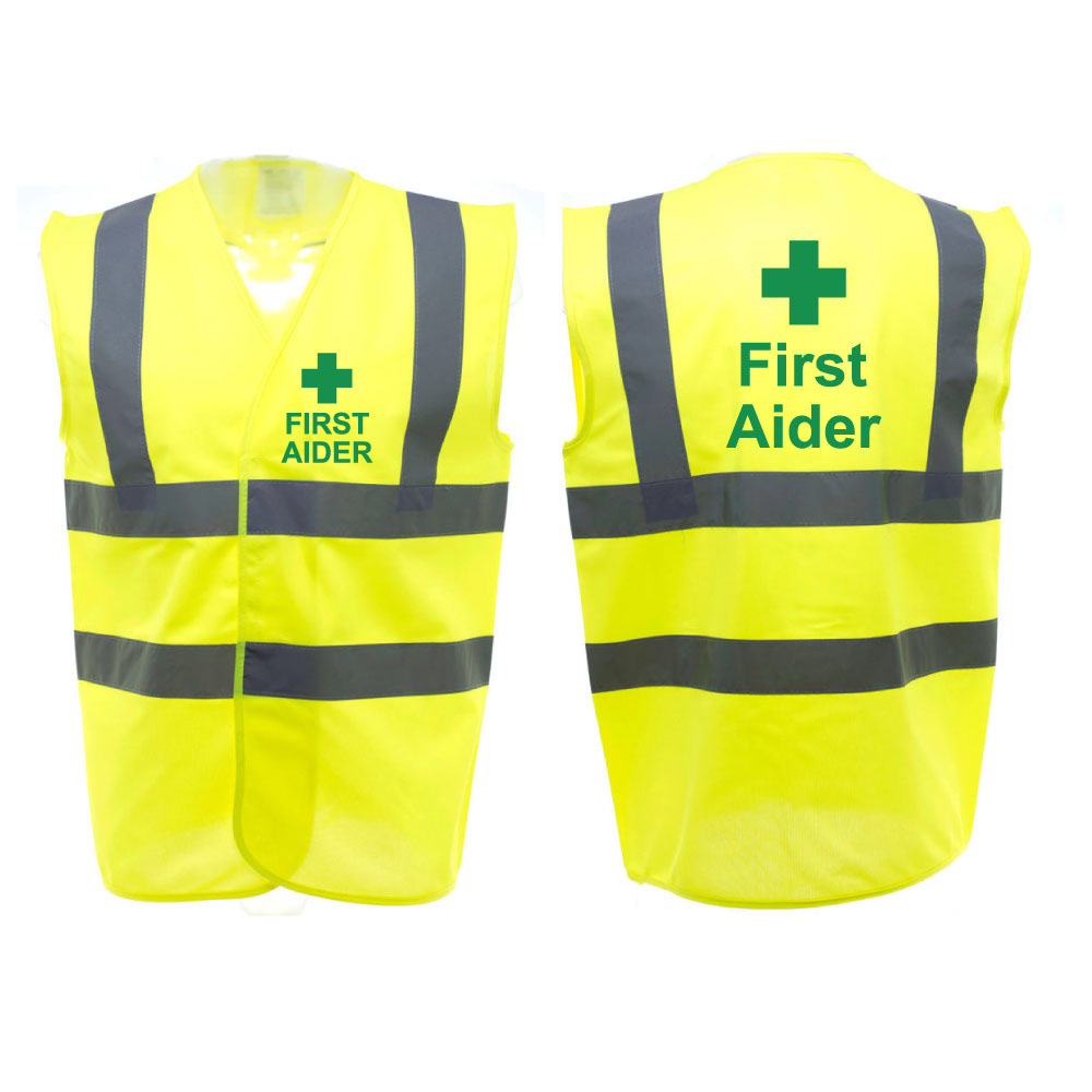 Yellow Reflective Safety Vest First Aider