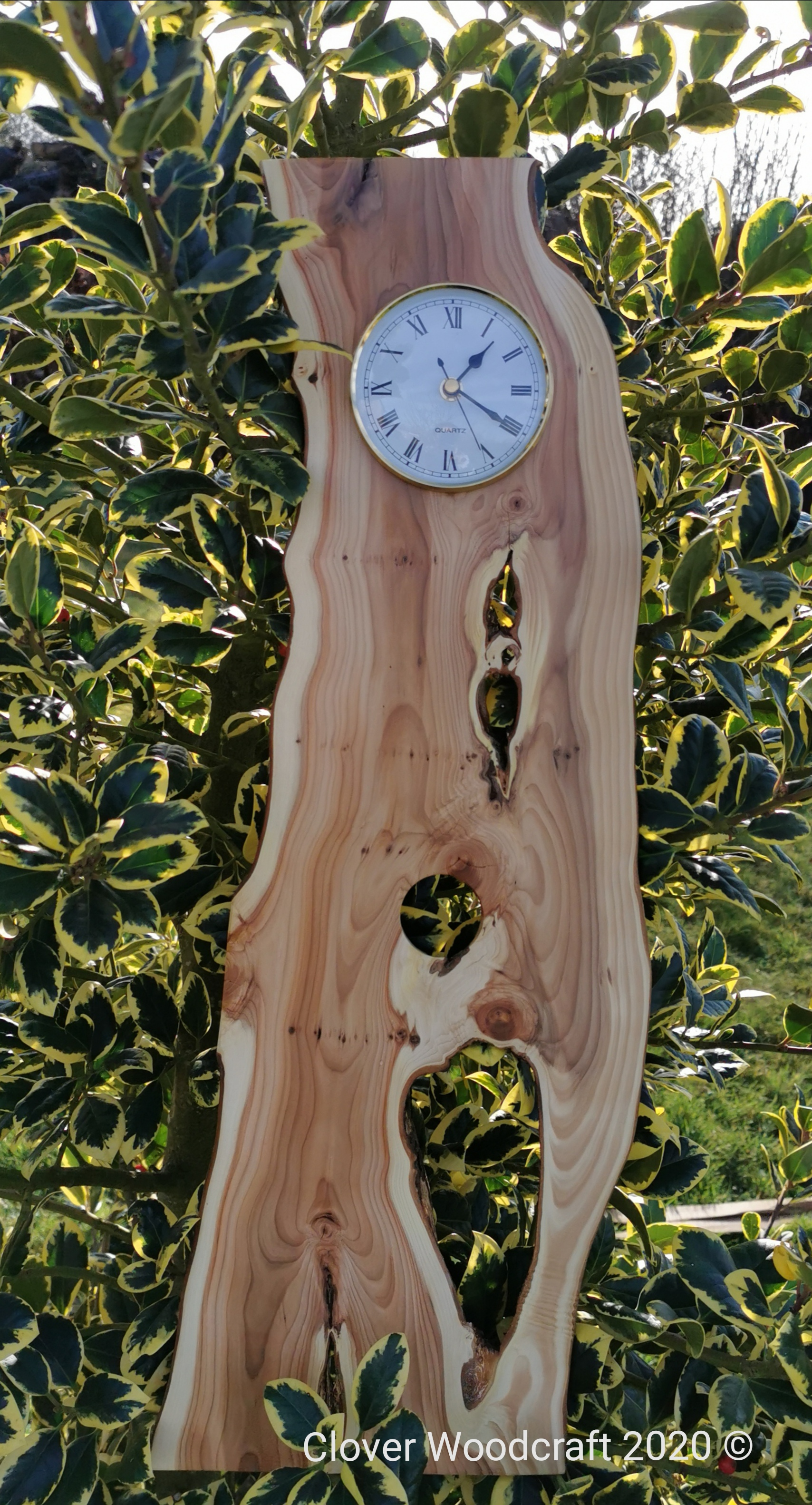 Irish Yew Wooden Pendulum Clock