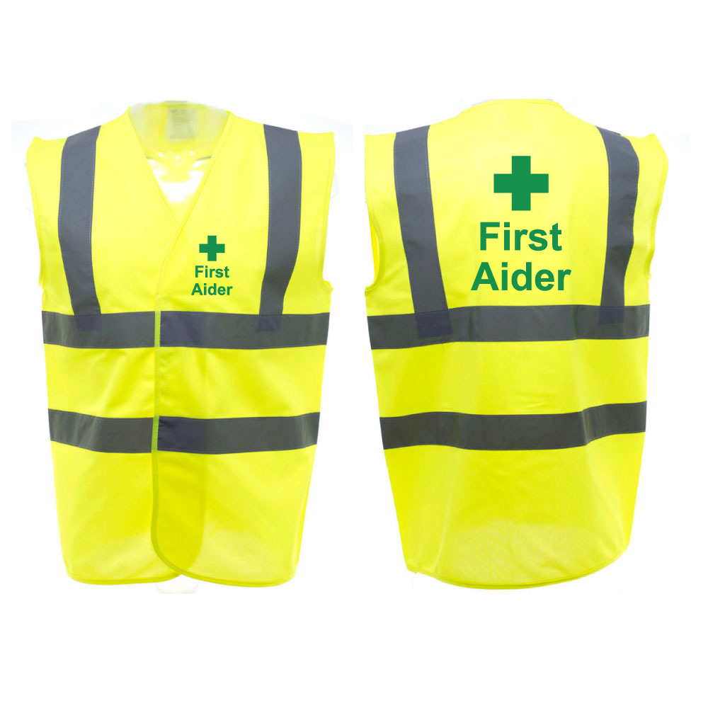 First Aider Safety Vest