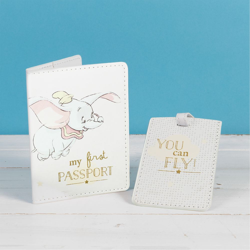Disney Dumbo passport and luggage tag set