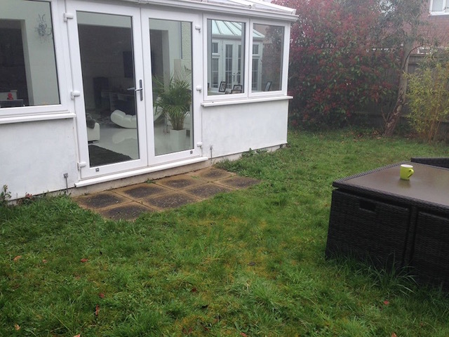 Garden before patio installation Weybridge, Surrey