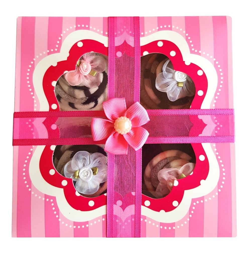 Women's Sock Cupcakes - Candy Stripe Gift Box