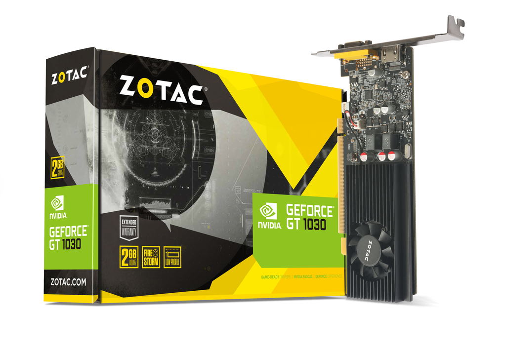 Zotac NVIDIA GeForce GT 1030 2 GB GDDR5 Graphics Card - Black