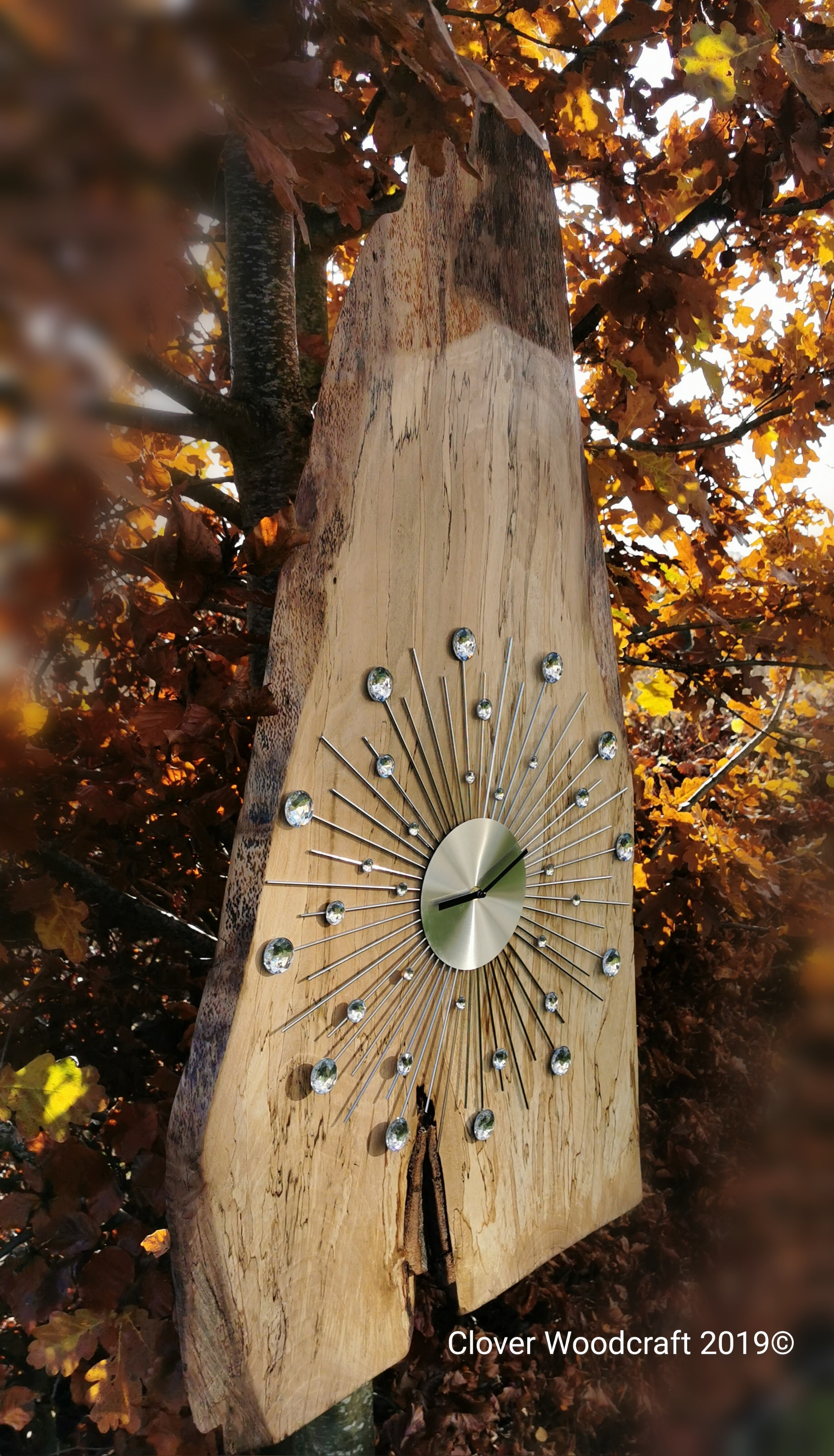 Extra Large Irish Spalted Beech Clock Handmade Products