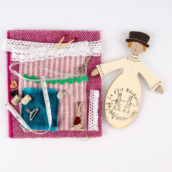 "Fabric Affair: ""Little Lady"" Pin Cushion Kit."