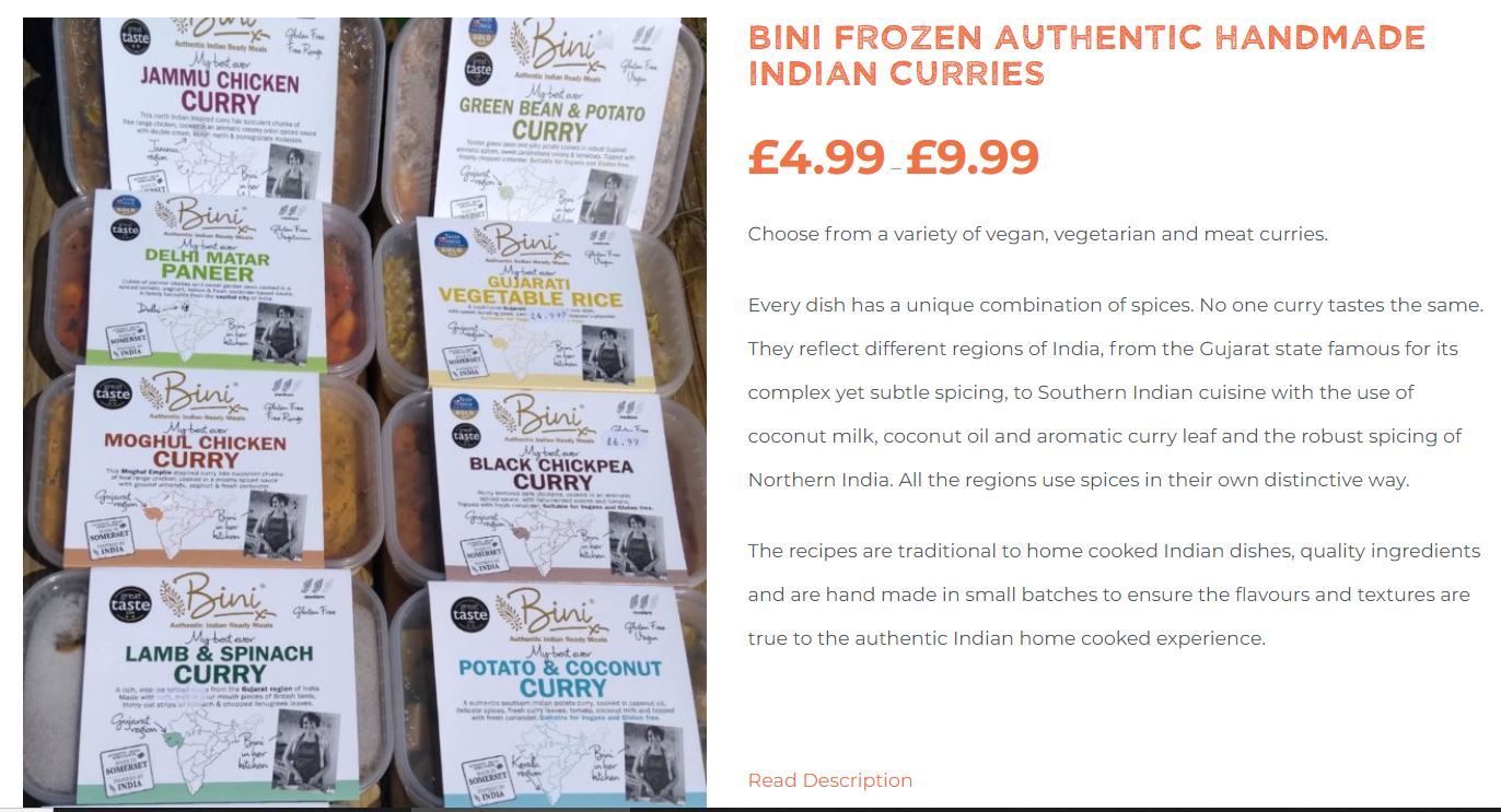 Brockley Stores now deliver Bini Curries to BS post codes