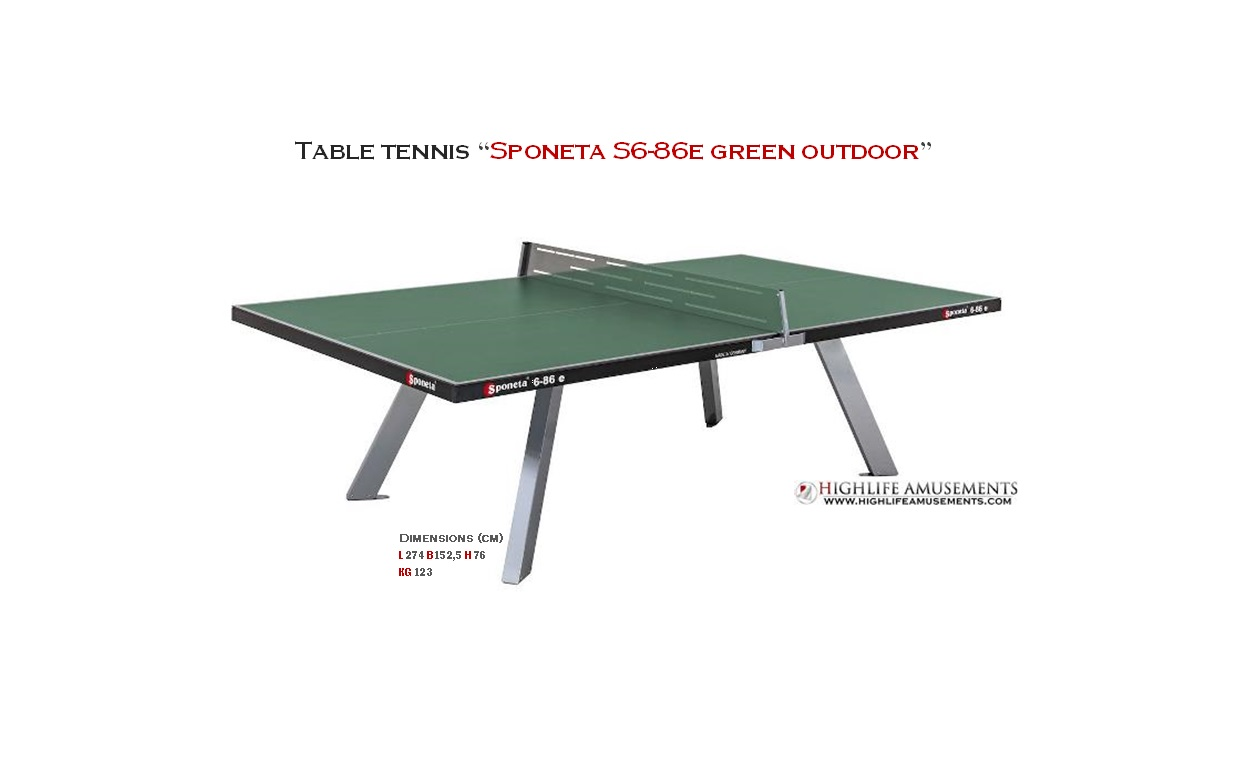 "Table Tennis ""Sponeta S6-86e Green Outdoor"""