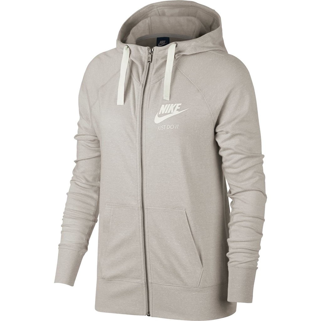 Nike NSW Gym Fullzip Oatmeal-White