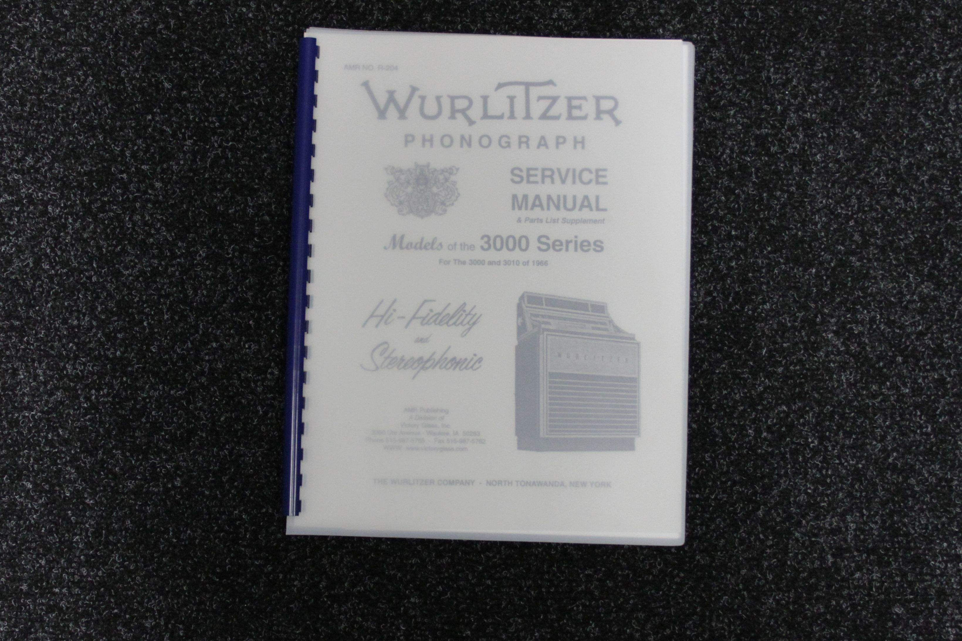 Wurlitzer Service Manual 3000 series