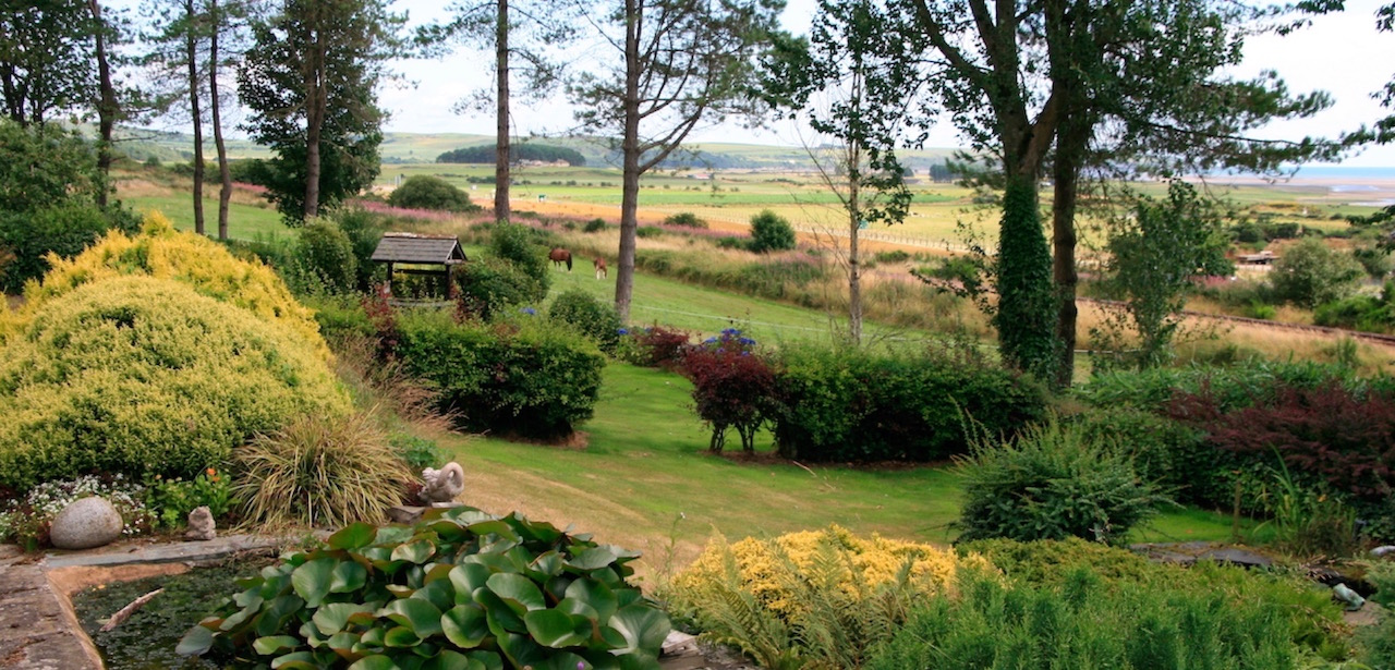The garden and grounds at East Challoch