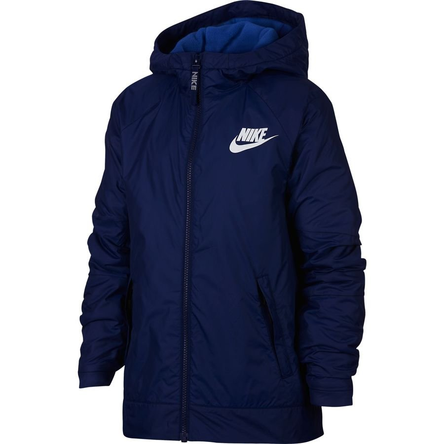 Nike NSW Fleece Lined Jacket Navy-Royal-White