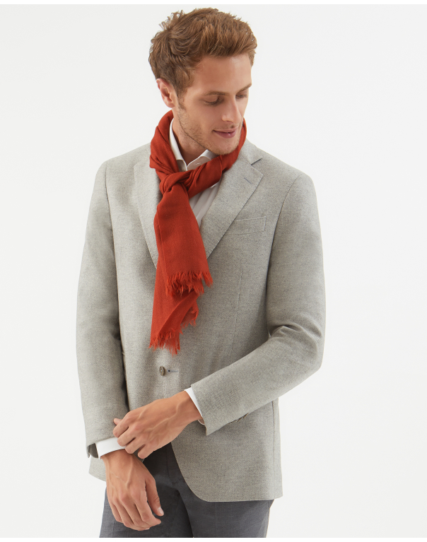 scarf cashmere brick red
