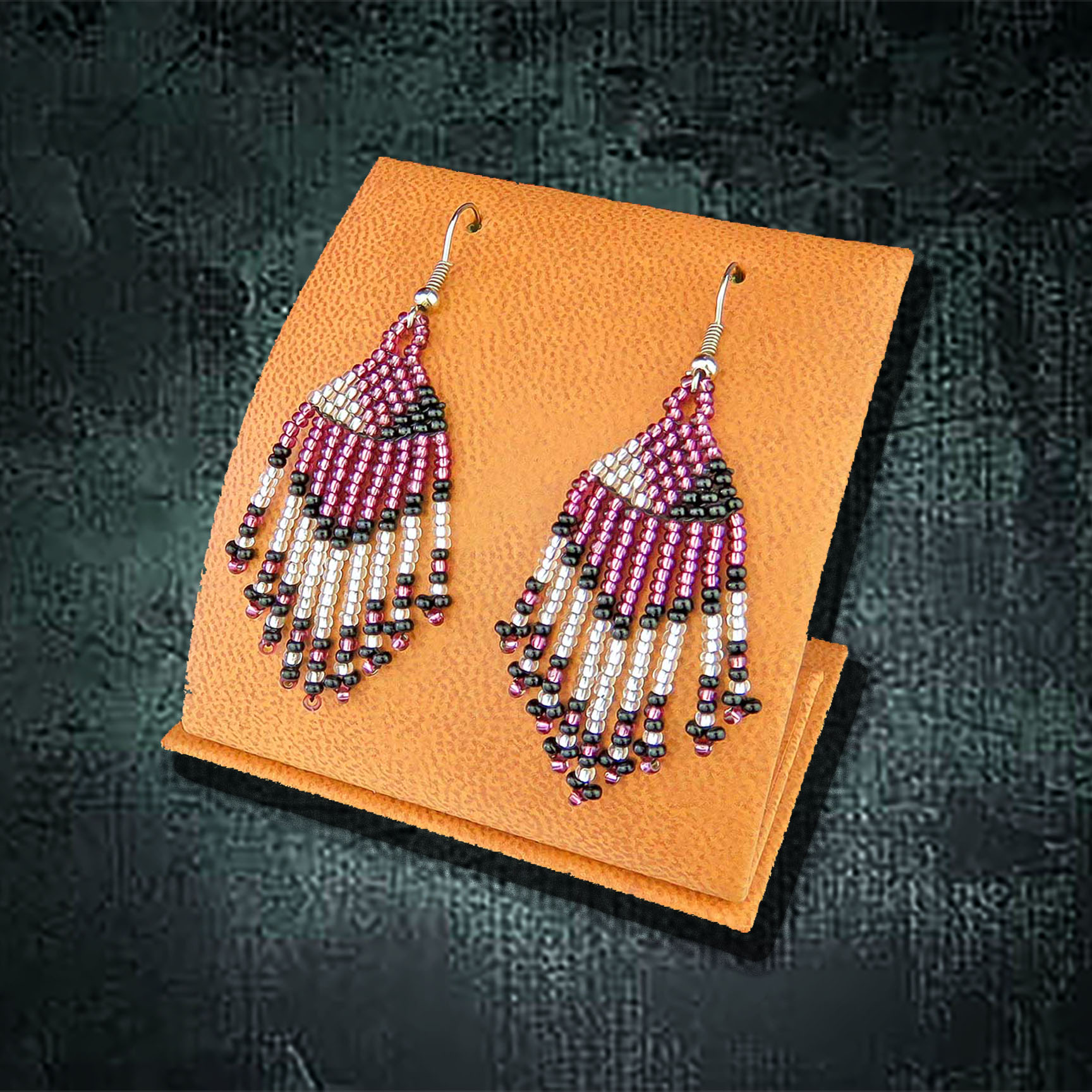 African Beaded Earrings, Tassel