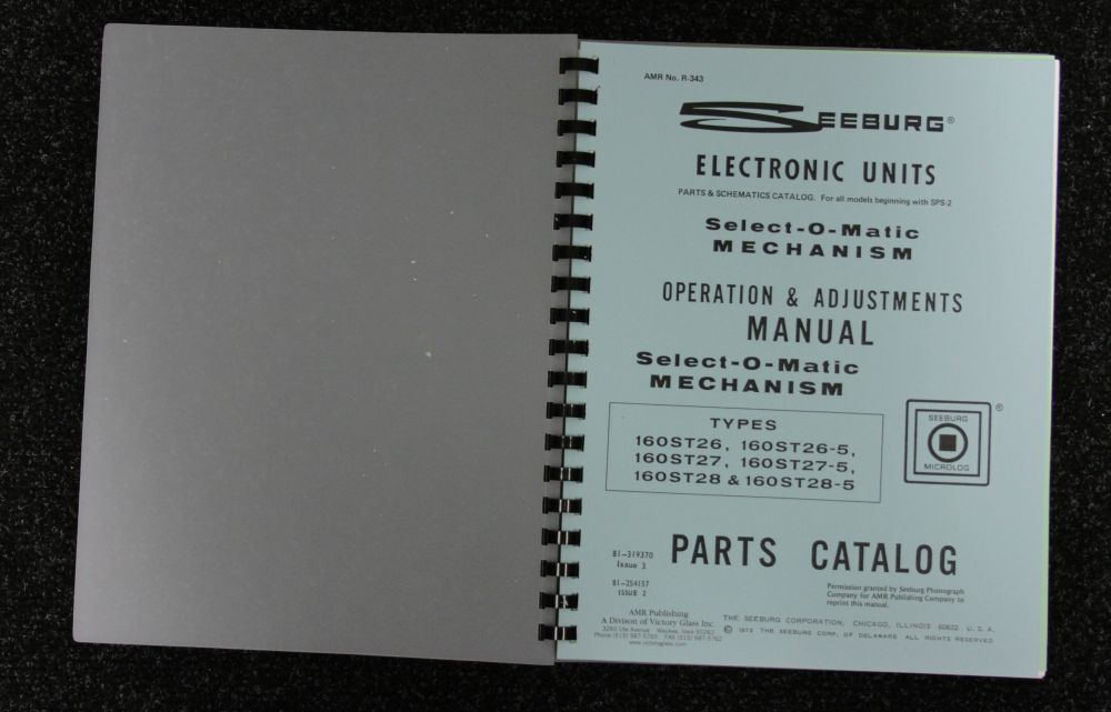 Seeburg - Operation and Adjustments Manual SPS-2