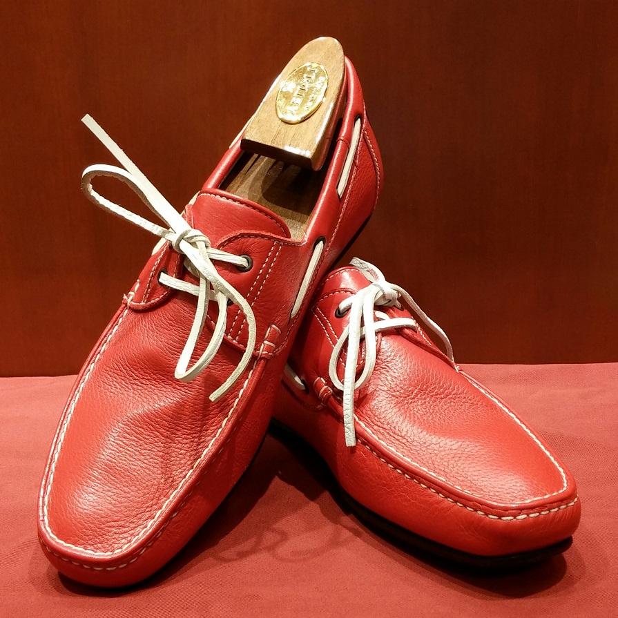 Driving Shoe Model 551 Red & White