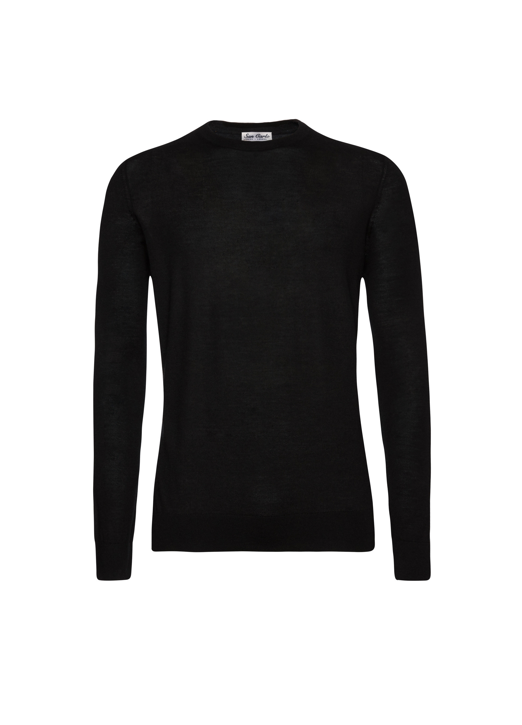 Round Neck Silk & Cashmere Black 02