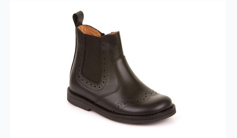 Leather Chelsea boots for boys with elastic side inserts